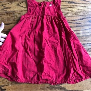 Primary red swing dress
